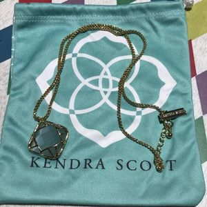 Kendra Scott Caged Square Pendant Necklace
